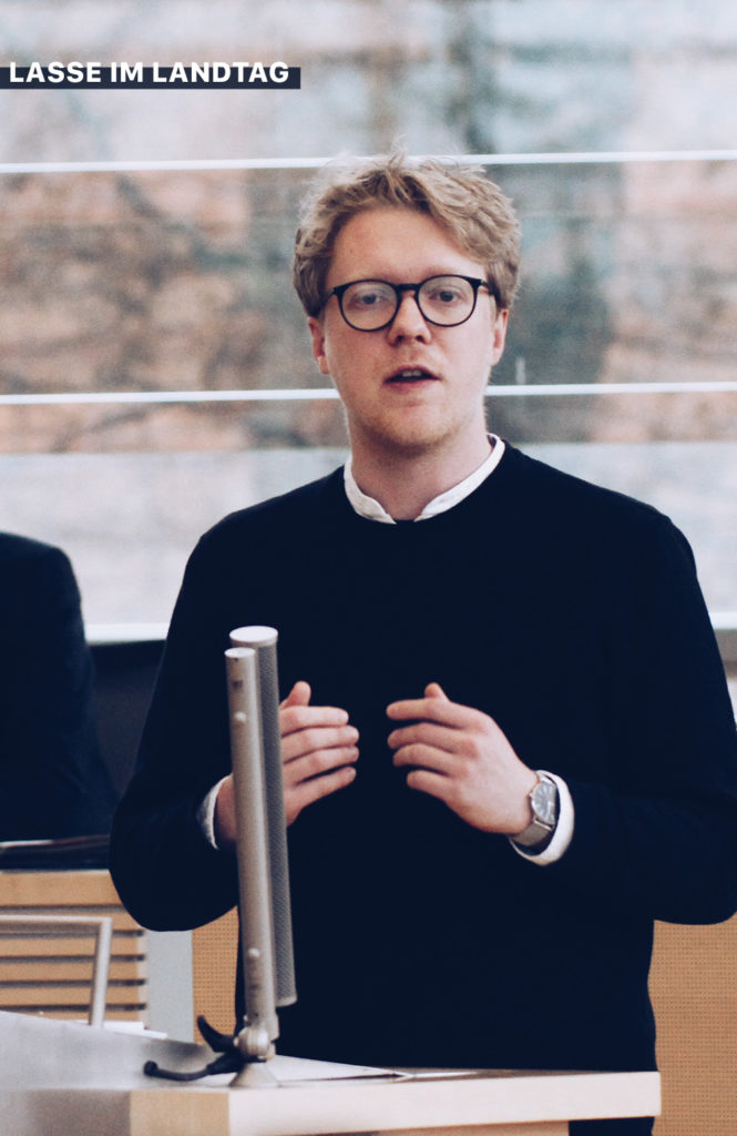 Lasse Petersdotter im Landtag Plenum Rede